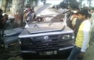 बिजनौर -चांदपुर राष्ट्रीय राजमार्ग पर हुए सडक हादसे में पांच लोगो की मौत.