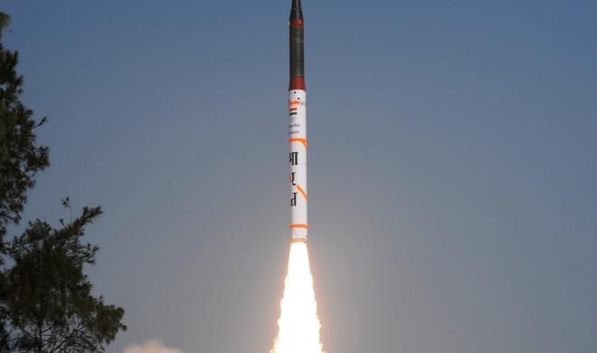 कलाम द्वीप से अग्नि-5 प्रक्षेपास्त्र का सफलतापूर्वक परीक्षण