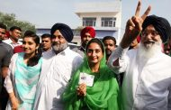 पंजाब विधानसभा चुनाव : बादल ने लंबी में तो अमरिंदर ने पटियाला में डाला वोट.
