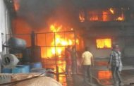 शॉर्ट-सर्किट से इलेक्ट्रॉनिक गोदाम में लगी आग, लाखों की सम्पत्ति खाक