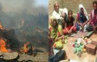 लगातार घर में लग रही रहस्यमय तरीके से आग , परेशान किसान ने कराया पूजा-पाठ