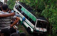 MP : पुल से नीचे गिरी प्राइवेट मिनी बस , 24 घायल