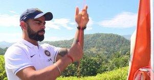 क्लीन स्वीप के बाद टीम इंडिया ने श्रीलंका में फहराया तिरंगा