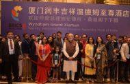 चीन में भारतीय समुदाय के स्वागत से अभिभूत हुए मोदी