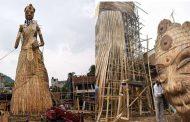 101 फीट ऊंची बांस से बनी दुर्गा प्रतिमा देखने के लिए टूट पड़े हैं श्रद्धालु !