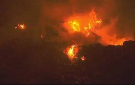 पटाखा जलाने में कूड़े के ढेर में लगी आग, लोगों ने बुझाया