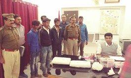 लाखों रूपयों के मोबाइल सहित तीन बदमाश गिरफ्तार