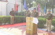 पुलिस लाइन में मनाया गया पुलिस झंडा दिवस