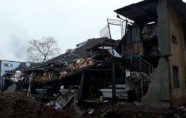 भिवंडी में ताश के पत्तों की तरह बिखर गई चार मंजिला इमारत , 12 लोग ......