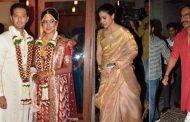 PICS : अपने ऑनस्क्रीन बेटे और बेटी की शादी में परिवार संग पहुचे अजय देवगन