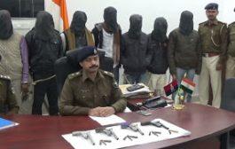आपराधिक योजना बनाते पुलिस के हत्थे चढ़े दस अपराधी