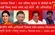 पालघर जिला : नगर परिषद चुनाव में बीजेपी के मंत्री विष्णु सवरा समेत कई लोगो  की अग्निपरीक्षा,