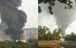नवी मुंबई : तुर्भे MIDC में लगी भीषण आग , 2 लोग जख्मी