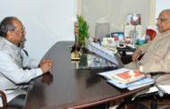 राज्यपाल से कुलपति डॉ. सिंह ने की सौजन्य मुलाकात
