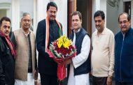 भाजपा छोड़ कांग्रेस में शामिल हुए पूर्व सांसद नाना पटोले