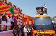 विकास यात्रा को हरी झंडी बोले गृहमंत्री , आदिवासियों का सबसे बड़ा दुश्मन नक्सली
