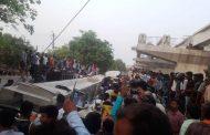 वाराणसी : कैंट स्टेशन के सामने निर्माणाधीन पुल गिरा , 12 लोगों की मौत , कई घायल