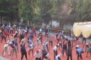 विद्या भारती के छात्रों ने योग एवं आसन का किया प्रदर्शन