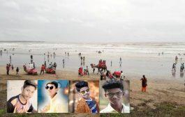 पालघर : केलवे बीच पर समुंद्र में डूबे 2 लडको का शव बरामद , 2 अभी भी लापता
