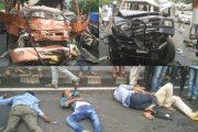 पालघर :मुंबई -अहमदाबाद हाइवे पर ट्रैक्स जीप और टैम्पो आपस में भिड़े ,3 की मौत 3 घायल