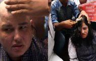 शिक्षक दिवस पर लखनऊ की सड़कों पर शिक्षकों ने सिर मुंडवाकर भीख मांगकर किया प्रदर्शन