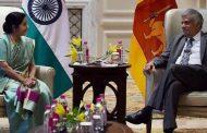 सुषमा स्वराज ने की श्रीलंका के प्रधानमंत्री रनिल विक्रमसिंघे से मुलाकात