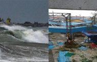 तितली तूफान के चलते जनजीवन अस्त-व्यस्त , तस्वीरों में देखे तबाही के मंजर ........