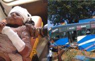 मध्यप्रदेश : बस ने मारी स्कूल वैन को टक्कर , 7 बच्चो समेत 8 की मौत