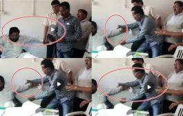palghar,video  : स्वास्थ्य मंत्री एकनाथ शिंदे की कुर्सी टूटी ,कुर्सी नही सह पाई डबल मंत्री के पद का बोझ ,बाल बाल बचे मंत्री जी