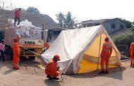 पालघर जिला : दहानू भूकंप प्रभावित गांवो NDRF की टीम हुई दाखल ,टेंट लगाने का काम शुरू , भूकंप के आ चुके है  16 झटके