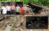 पालघर : जिला प्रशासन ने 4 लाख का चेक देकर किया भूकंप पीड़ित परिवार का मद्दत