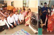 पालघर में आयकर अधिकारियों ने ब्लड डोनेट करके दिव्यांग बच्चों, बुजुर्गों के बीच मनाया आयकर दिवस