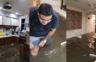 राकां के नेता नवाब मलिक के घर में भरा पानी , घर में भरे बाढ़ के पानी की तस्वीरें मलिक ने की ट्वीट