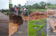पालघर जिला : बारिस के पानी से सडक का बड़ा हिस्सा बहा , पालघर ,जव्हार ,मोखाडा नाशिक रोड हुवा बंद