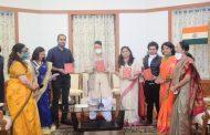 राज्यपाल ने प्रदान किया 'इंस्पायरिंग लीडरशिप अवार्ड' -नामचीन महिलाओं को किया सम्मानित