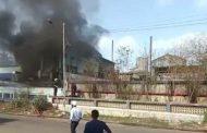 बोईसर तारापुर MIDC में बजाज हेल्थ केयर कंपनी में लगी भीषण आग
