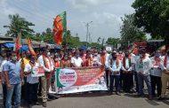 ओबीसी आरक्षण को लेकर बीजेपी नें किया चक्का जाम,ठाकरे सरकार को दिया चैलेंज